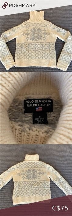 Looks great with jeans. Worn only a couple times. Polo Jeans, Apres Ski, Turtlenecks, Cowl, Skate, Looks Great, Sweaters For Women, Ralph Lauren, Smoke Free