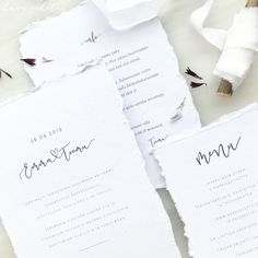 Simple white luxury wedding invitations with modern font for a nordic inspired minimalist wedding. Nordic Wedding, Boho Wedding, Luxury Wedding Invitations, Wedding Stationery, Modern Fonts, Nordic Style, Minimalist Wedding, Modern Calligraphy, Custom Design