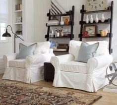 Brandon Persian-Style Rug | Pottery Barn and Studio Wall Shelves (for corner)