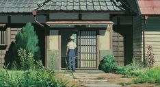 Screencap Gallery for My Neighbor Totoro Bluray, Studio Ghibli). Two young girls, Satsuki and her younger sister Mei, move into a house in the country with their father to be closer to their hospitalized mother. Mei Totoro, Sims, My Neighbor Totoro, Doodle Drawings, Anime Scenery, Illustrations, Studio Ghibli, Manga, Painting & Drawing