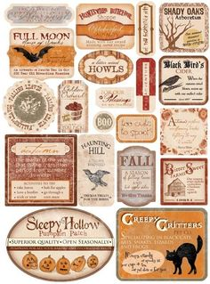 graphic about Printable Halloween Labels identify 2092 Ideal Halloween - Labels Printables illustrations or photos Halloween