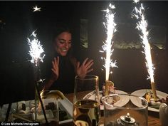 Make a wish! The Scream Queens actress shared this shot to her Instagram Sunday night during her birthday dinner at Roku in Los Angeles