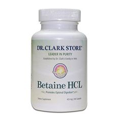 Dr Clark Betaine HCL Supplement 425mg 100 capsules *** Check out the image by visiting the link. (This is an affiliate link)