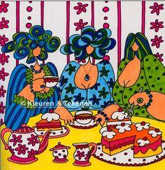 Dikke Dames - Julia Woning - Het enige echte Dikke Dames kleurboek voor volwassenen - Colored by Tekenen & Kleuren