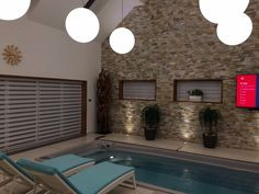 Privátní wellness s posilovnou Wellness, Outdoor Decor, Home Decor, Interior Design, Home Interiors, Decoration Home, Interior Decorating, Home Improvement