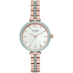 kate spade new york Holland Watch, 34mm found on Polyvore featuring jewelry, watches, kate spade, white watches, white jewelry, white wrist watch and kate spade jewelry
