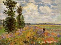 Poppy Field Argenteuil Claude Monet garden oil painting reproduction Hand painted High quality