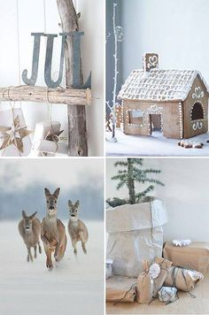 Simple, nature-inspired Nordic Christmas decor.