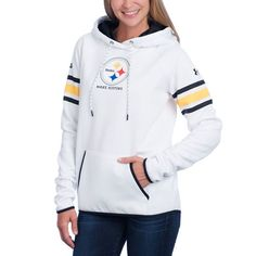 Picture of Pittsburgh Steelers Under Armour NFL Combine Women s White Fleece  Hoodie Go Steelers e5149d09c
