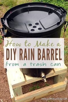 Make a DIY rain barrel and homemade stand for an easy way to water your garden. You can even make this without gutters - as it functions as a stand alone rainwater collector. Outdoor Projects, Garden Projects, Diy Jardin, Water Barrel, Rainwater Harvesting, Water Conservation, Save Water, Diys, Mosquitoes