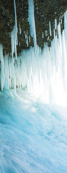 ..we found ourselves under the ice waterfall!