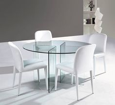 Round All Glass Diing Table