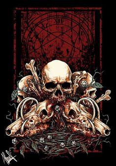 Skull by akanine on deviantART