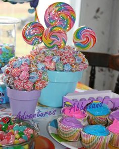 Candy Party Decor - Lollipop & Dum Dum centerpieces