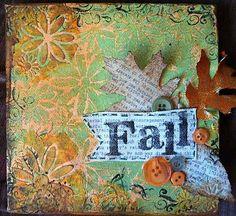 Love fall mixed media art