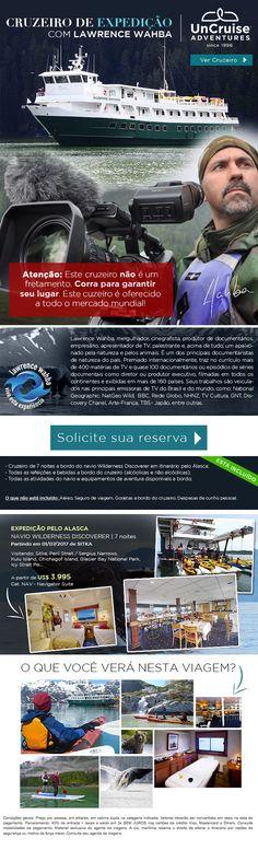Cruzeiro especial com Lawrence Wahba. Expedição e Aventura!
