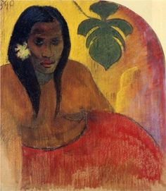 by Paul Gauguin in oil on canvas, done in . Find a fine art print of this Paul Gauguin painting. Paul Gauguin, Henri Matisse, Gauguin Tahiti, Impressionist Artists, Arte Popular, Kandinsky, French Art, Pablo Picasso, Woman Painting