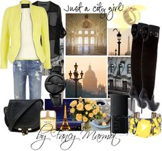 """""""Just a city girl"""" by fancymarot on Polyvore"""