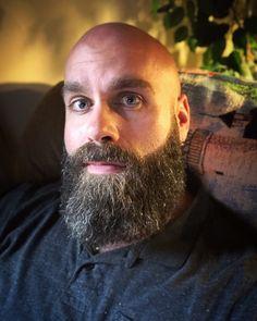 Shaved Head With Beard, Bald With Beard, Bald Men, Shaved Heads, Long Beard Styles, Hair And Beard Styles, Great Beards, Awesome Beards, Beard Look