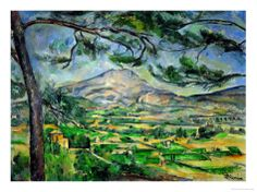 Mont Sainte-Victoire with Large Pine-Tree, circa 1887 by Paul Cézanne. Canvas print from Art.com. #modernart