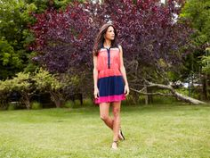Colorblock Shirtdress by Gracia from Veronica Webb on OpenSky