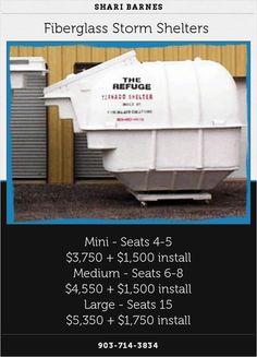 Fiberglass Storm Shelters
