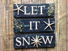 Items similar to JOY sign. Hand painted Christmas sign/ Coastal Christmas/ Beachy Christmas sign/ Starfish Christmas sign/ Tropical Christmas decor on Etsy Tropical Christmas Decorations, Coastal Christmas, Christmas Home, Let It Snow Sign, Joy Sign, Wood Storage Box, Christmas Signs Wood, Hand Painted, Painted Wood