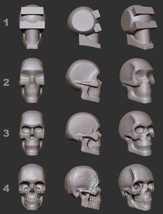 ArtStation - Skull for reference - Asset, Hector Moran (HEC) Skull Anatomy, Face Anatomy, Anatomy Drawing, Anatomy Art, Zbrush Character, Character Modeling, Character Art, Character Design, Blender 3d