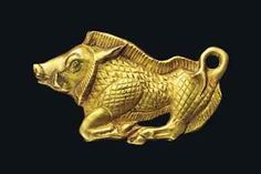 A SCYTHIAN GOLD BOAR BRACTEATE CIRCA 5TH CENTURY B.C.
