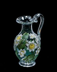 Water Jug by W. H., B. & J. Richardson,  about 1850 | Corning Museum of Glass #glass #19th cent. europe #jug