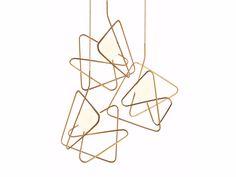 Buy online Inciucio By gibas, powder coated steel pendant lamp, moody Collection