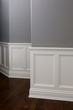 Custom wainscotting by Absolute Cabinets