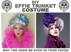 Ever the prim and proper hostess is Effie Trinket. Like her fellow Capitol residents she is known for her outrageous fashion in the Hunger Games Trilogy. A woman obsessed with both fame and etiquet…