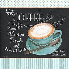 Retro Coffee 1 Poster by Debbie DeWitt
