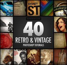 40 Incredibly Inspirational Retro & Vintage Photoshop Tutorials