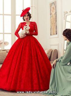 Rotes Hochzeitskleid Quinceanera Kleid-Spitze-2016 Foto  Alle Spitze Brautkleider http://de.lady-vishenka.com/lace-bridal-dress-2016/