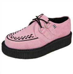 pink creepers #kawaii #punk #cute