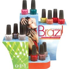 OPI Brazil Collection Spring Summer 2014 – Beauty Trends and Latest Makeup Collections Nail Polish Blog, Nail Polish Bottles, Opi Nail Polish, Opi Nails, Nail Polishes, Nail Polish Collection, Makeup Collection, Summer 2014, Spring Summer
