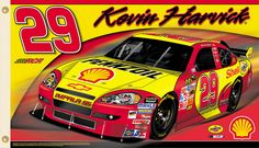 Kevin Harvick HARVICK NATION Giant 3'x5' NASCAR Flag (2009) - #29 Richard Childress Racing Chevrolet available at www.sportsposterwarehouse.com