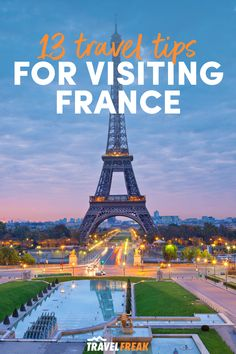 Use these travel tips for France and France travel guide to make the most of your trip to the European country. Including tips for visiting Paris, Paris travel tips and Paris France travel tips to make the most of your stay. | france travel guide tips | travel to france tips | france travel tips | france travel guide | paris travel tips first time | traveling to france tips | europe travel destinations Top Travel Destinations, Europe Travel Tips, Packing Tips For Travel, Travel Guides, Paris France Travel, Paris Travel Guide, International Travel Tips, Visit France, Paris Paris