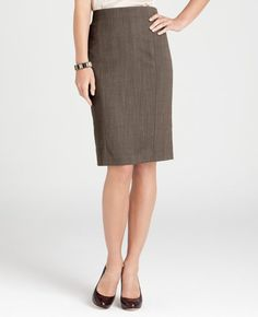 This skirt is the perfect length to be business appropriate!