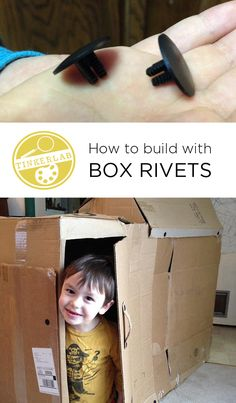 How to build with rivets and cardboard boxes | TinkerLab.com