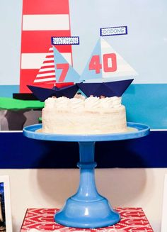 Sweet and Clever's Birthday / Nautical - Photo Gallery at Catch My Party