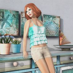 """Check out the Second Life Pic of the Day, """"52 Weeks of Color - Aqua Island"""", photo by DollyBaroque."""