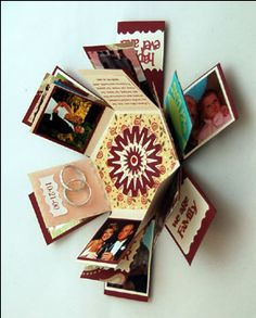 """Explosion"" box - add photos, words, trinkets"