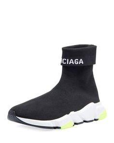separation shoes d7c96 81308 Balenciaga Men s Speed High-Top Stretch-Knit Sock Sneakers Tejer  Calcetines, Colgantes,