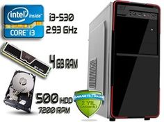 İNTEL İ3 2.93 GHZ 4 GB DDR3 RAM 500 GB HDD SIFIR BİLGİSAYAR