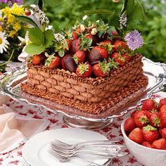 Chocolate-Strawberry Basket Cake, this would make a tasty statement on your Easter table..