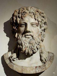 Marble relief of Zeus. 2nd. century.CE. Roman copy of a Greek original. — with Mouhammedelbéchir El Béji.