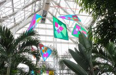 Our Butterfly Kaleidoscope installation at the Indianapolis Zoo opens to the public March 22. Get a sneak peek here! www.bannerart.com